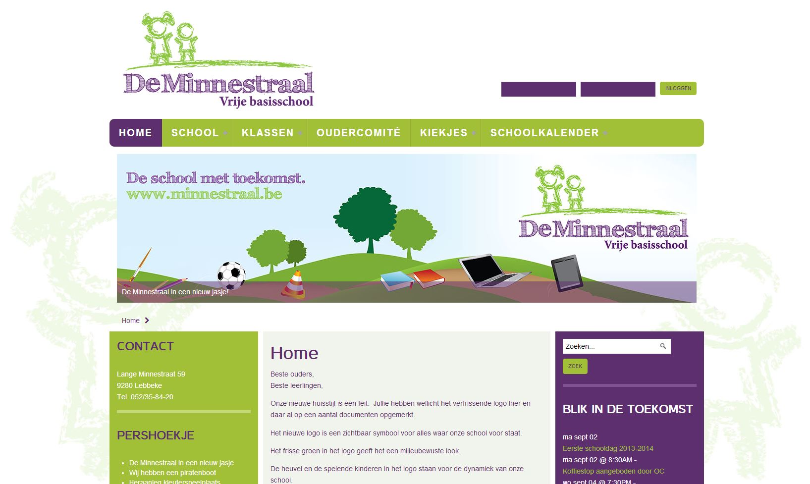Nieuwe lay-out website Minnestraal