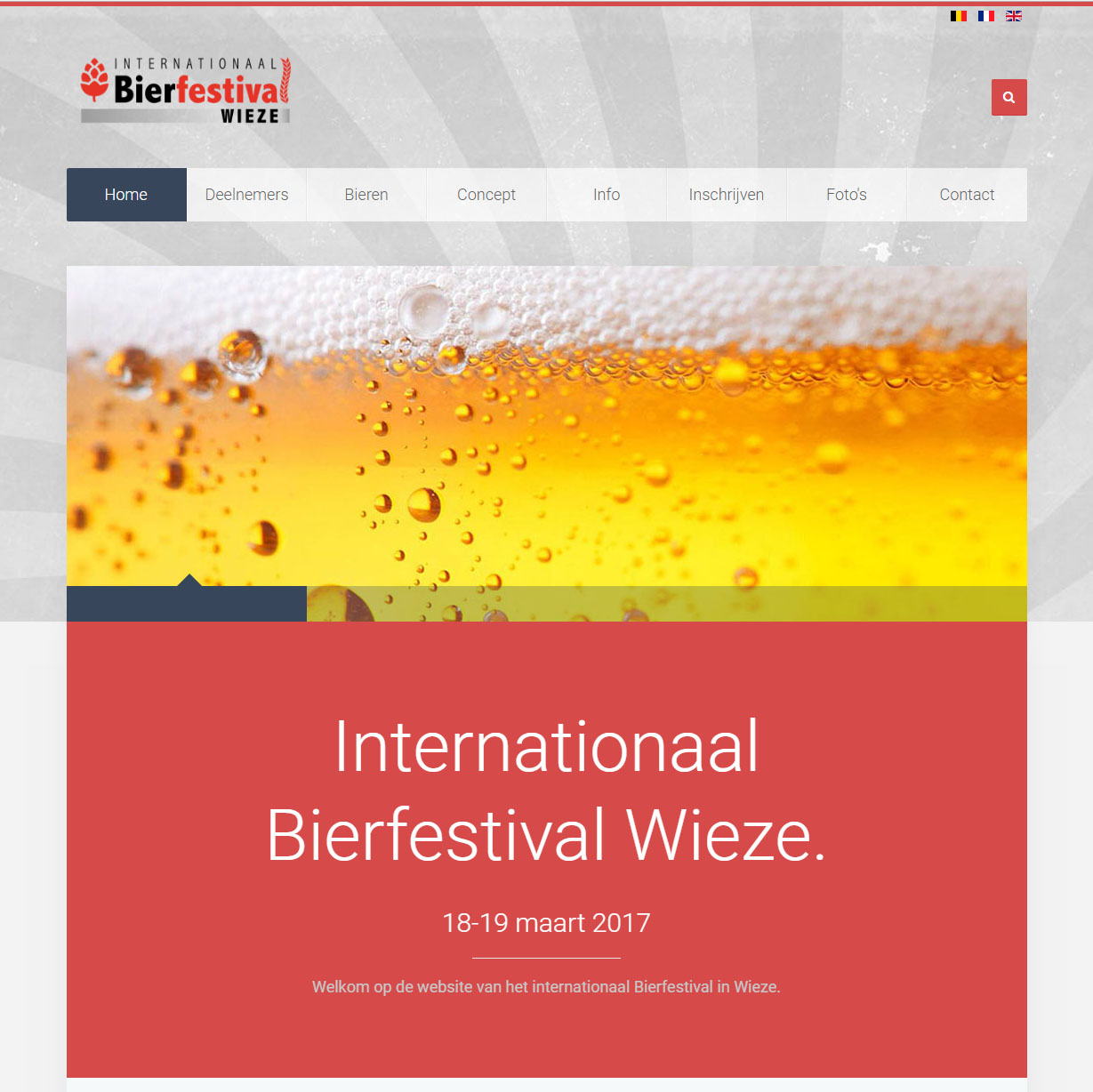 Website Internationaal Wieze Bierfestival