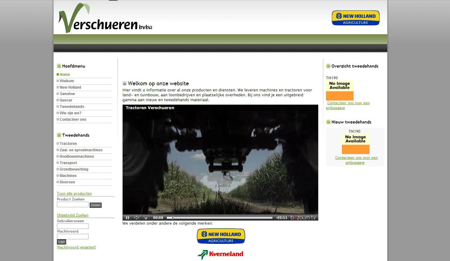 Website Tractor Verschueren