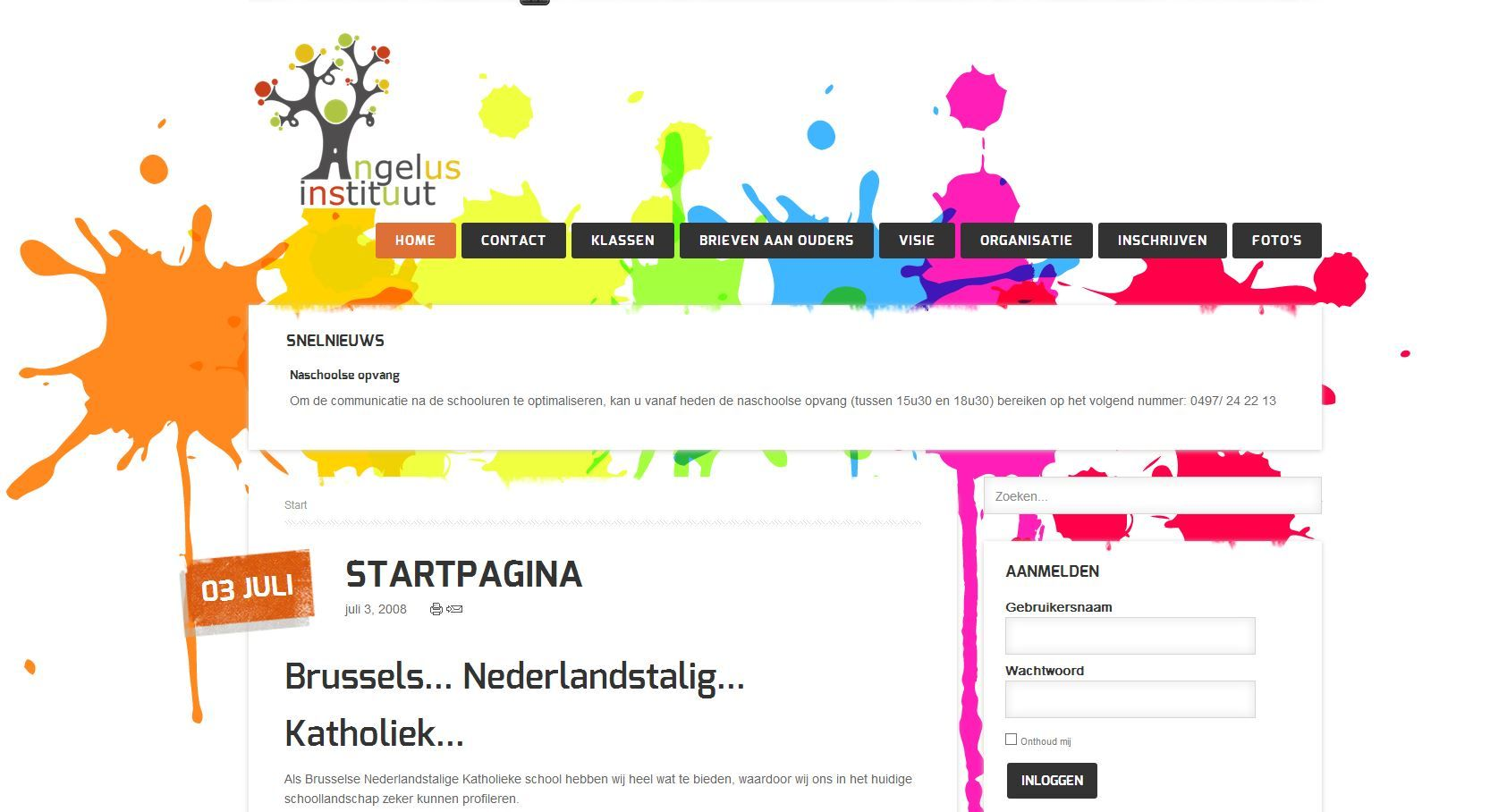 Website Angelusinstituut