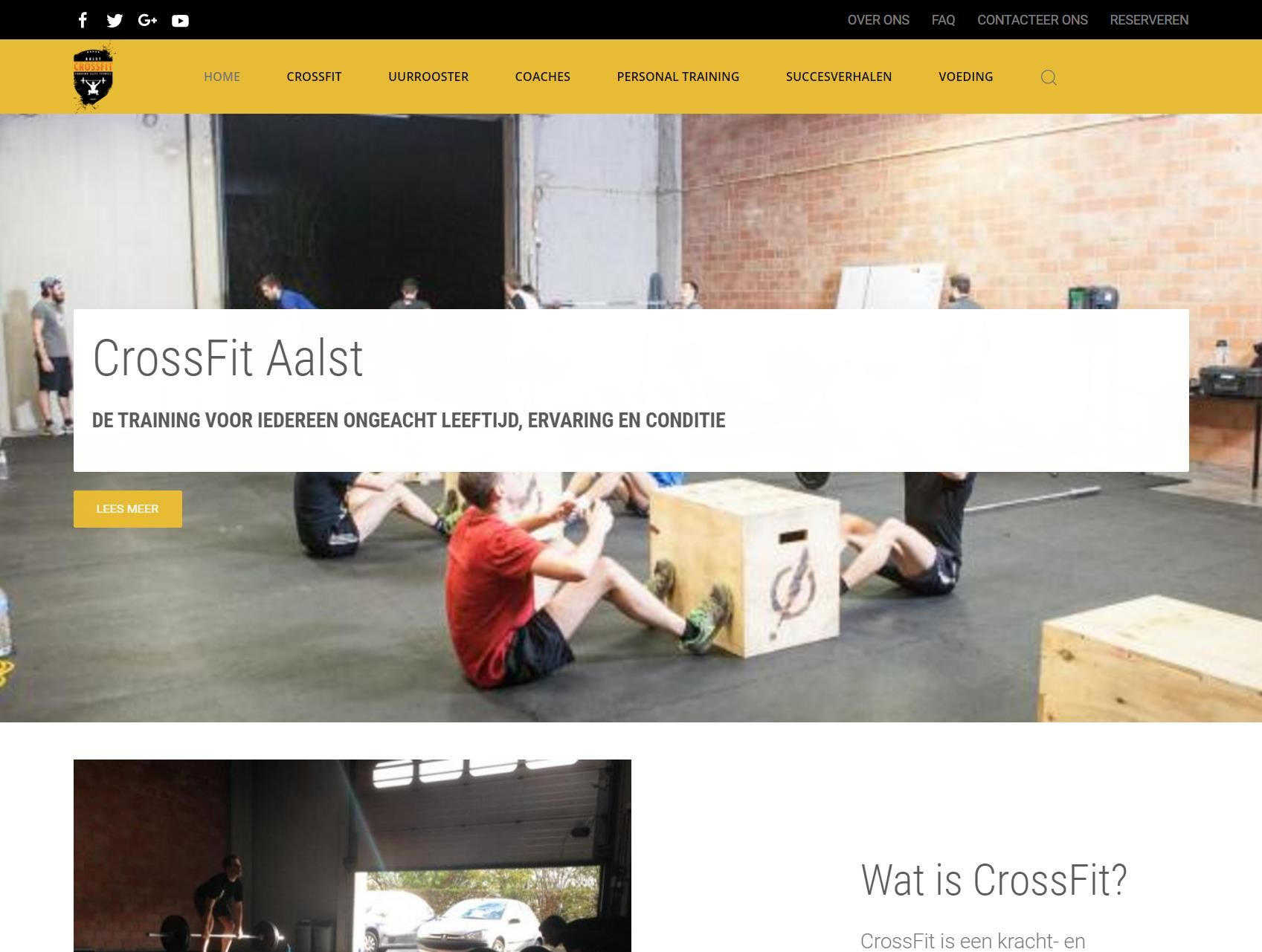 Website CrossFit Aalst