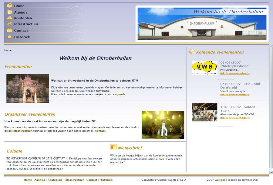 Website Oktoberhallen